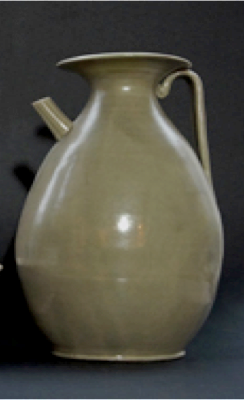 8th to 9th century Tang Dynast Yue Ware ewer
