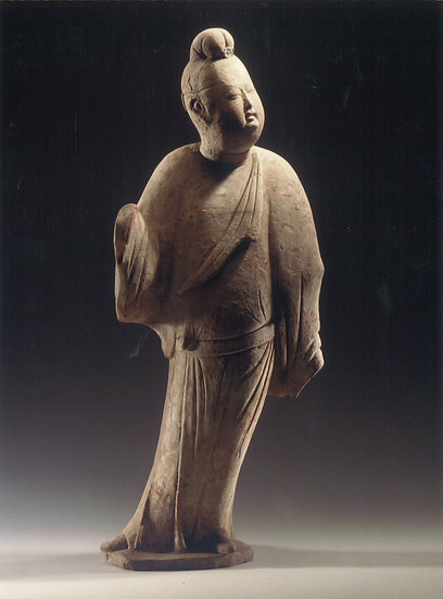 Mid Tang Dynasty terracotta figure