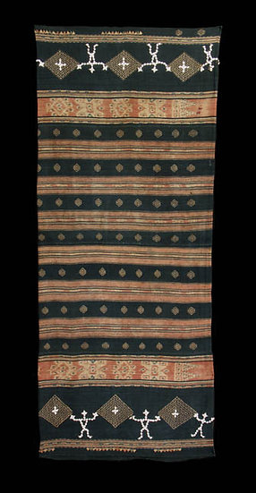 19th century sarong with shell figures