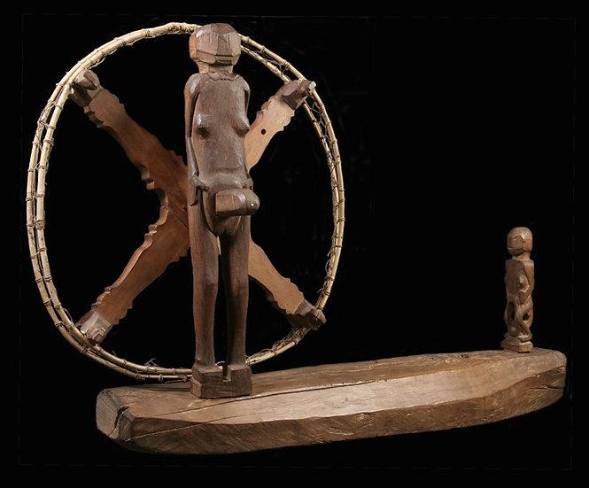 19th century spinning wheel