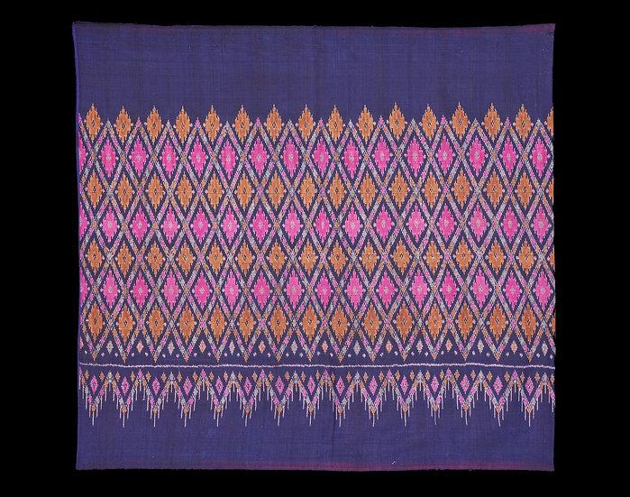 1950-60s Phaa Sin Mii Laut, woman's tube skirt