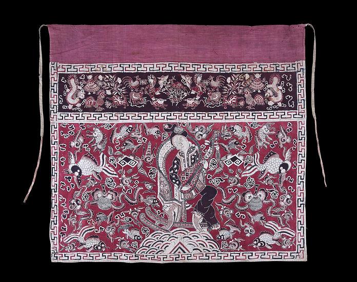 Rare 1900 - 1920's Tok Wi Batik Tulis, Dewi Cina Bian Cai Tian, frontal cover fo