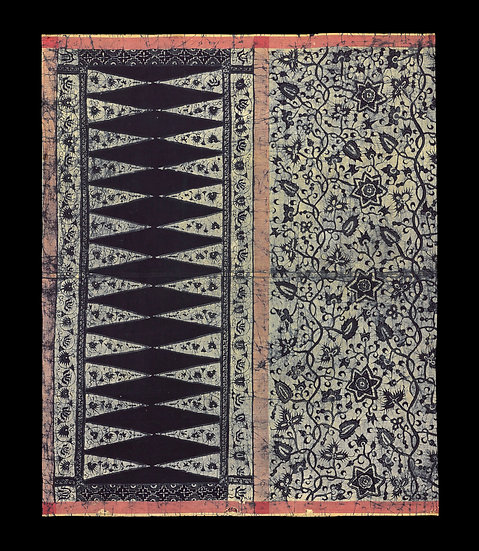 Very rare and early 1870-1920 Sarong Batik Tulis Biron