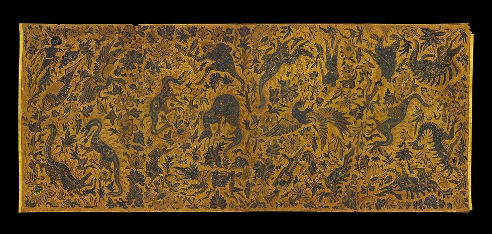 1930s Kain Panjang Batik Tulis, long cloth hip wrapper