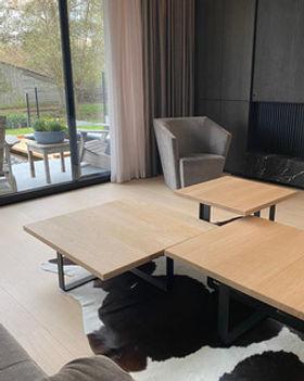 op maat gemaakte houten salontafels