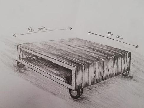 ontwerp op maat gemaakte houten bijzettafel