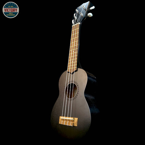 Factory New Kala Black Satin KA-15S Soprano Ukulele