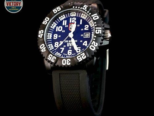Luminous Men's 3054 SET Scott Cassell Flag Swiss Quartz Scarce Blue Dial Watch