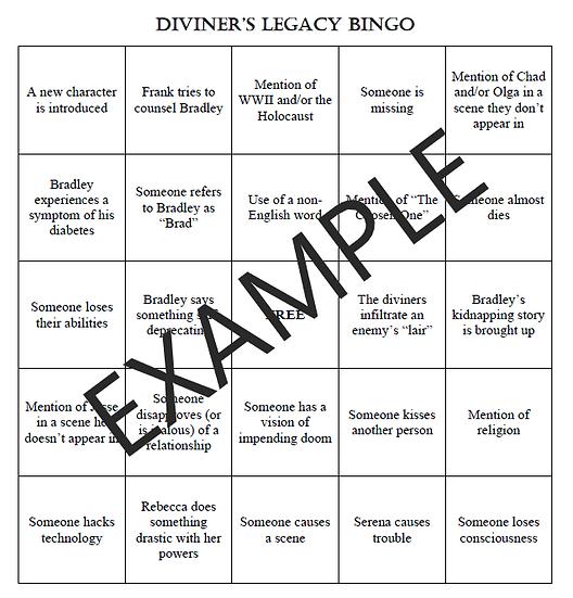 Diviner's Legacy Bingo