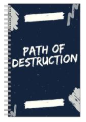 """Path of Destruction"" Spiral Notebook"