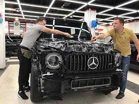 Антигравийная пленка Llumar Mercedes G 6,3 AMG
