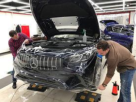 Антигравийная пленка Llumar Mercedes S coupe 6.3 AMG