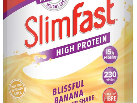 SlimFast High Protein Meal Replacement Powder Shake, Blissful Banana Flavour