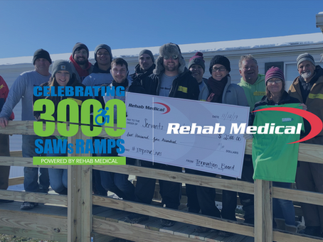 Rehab Medical Joins Forces with Servants at Work to Revel 3,000 Ramp Build Milestone