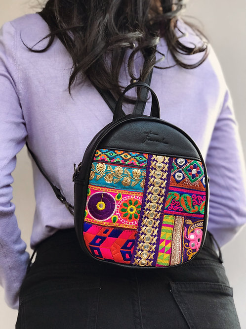 Mini Bonbon Cross Body Backpack Black