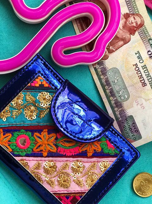 Ennie-Minnie Wallet Metallic Blue