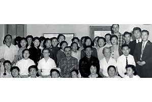 The Holt staff in Seoul, Korea in 1957.
