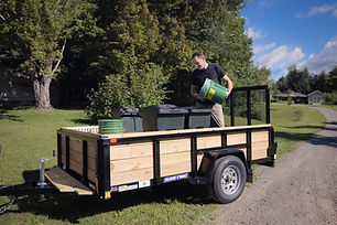 Upper Valley Compost Pick-up Trailer