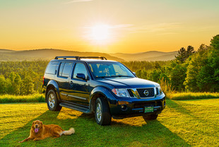 Nissan Pathfinder at Sunset