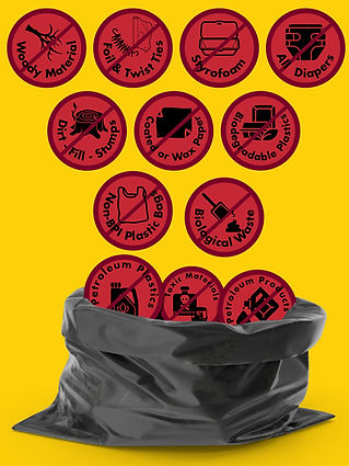 Upper Valley Compost Non Compostable Items