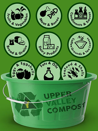 Things Upper Valley Compost Collects