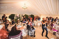 Craig Halliday UK Violinist wowing evening guests at a Marquee wedding celebration