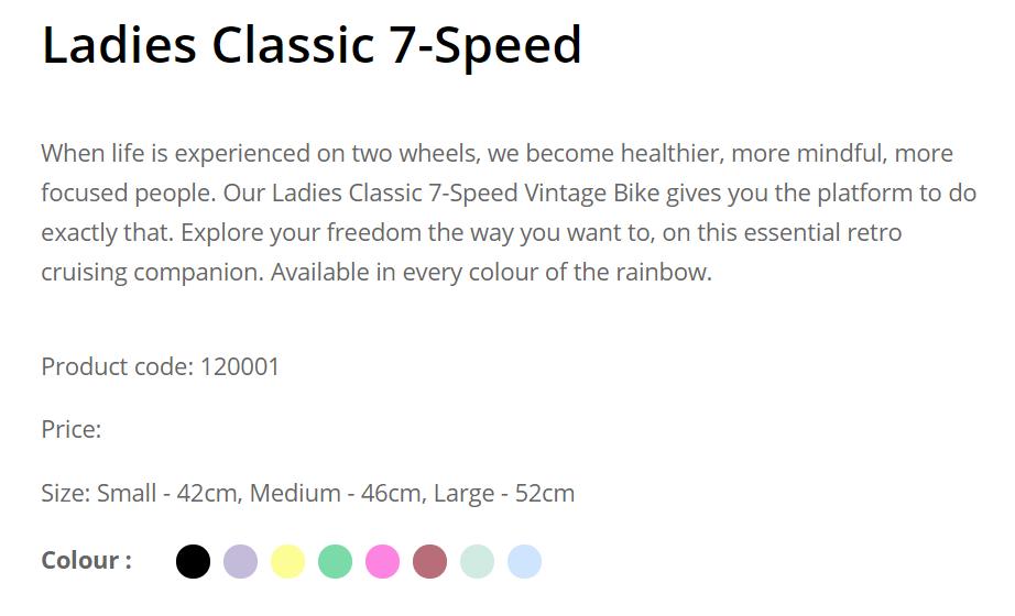 Reid Ladies Classic 7 speed