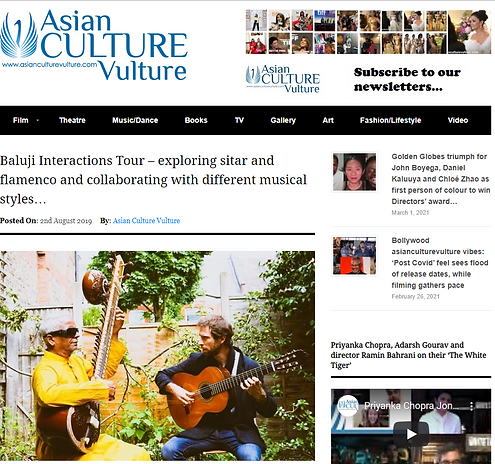 Baluji Shrivastav and Ignatio Monteverde on Asian Culture Vulture, playing sitar and guitar sitting in a back garden
