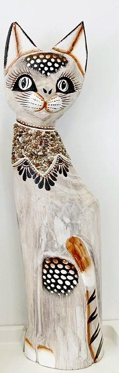 Gatto in legno 50 cm