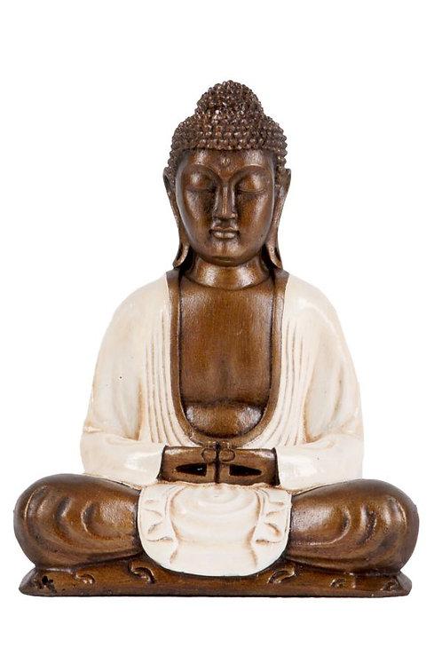 RAFFIGURAZIONE BUDDHA IN MEDITAZIONE CON MANI SOVRAPPOSTE H 32CM