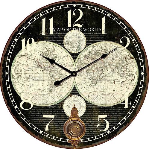 Orologio legno con pendolo