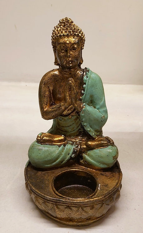 Buddha resina porta candela