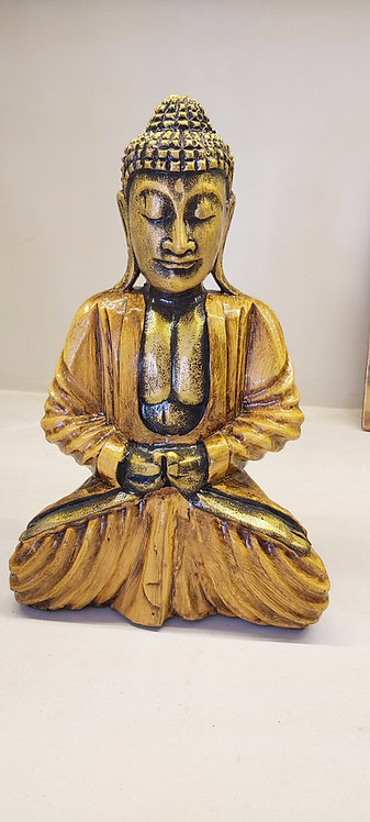 Buddha in legno giallo