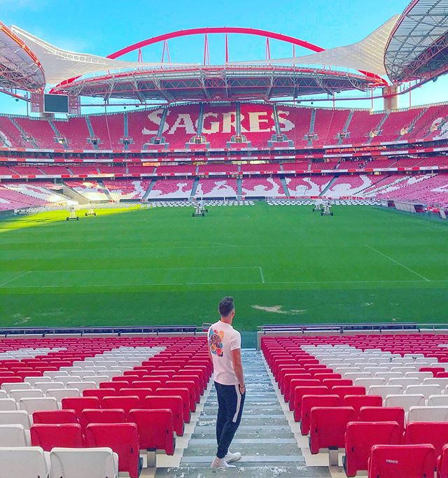 Sports writer Mark Ollerton at Benfica's football stadium