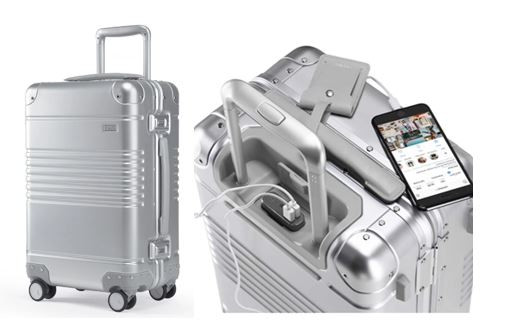 The smart carry-on manufactured by Arlo Skye