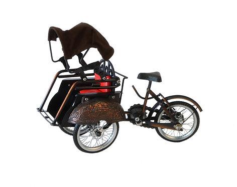 Modellino Triciclo con trasportino in latta
