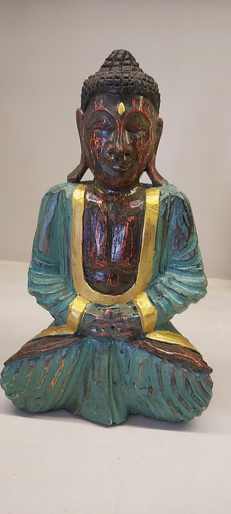 Buddha in legno verde