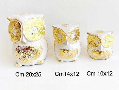 Gufo in legno dorato 10x12