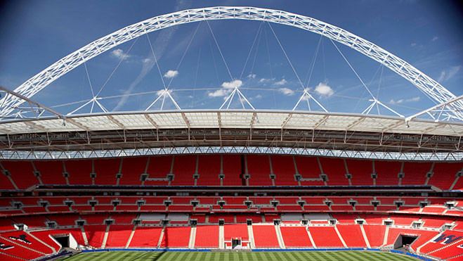 Wembely stadium one of the host stadiums for Euro 2020