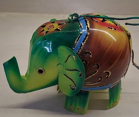 Elefantino porta candele in ferro
