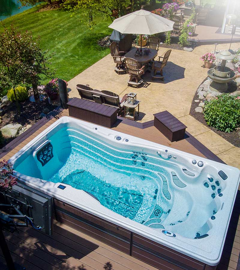Hot Tub ready for the perfect summer afternoon in the backyard