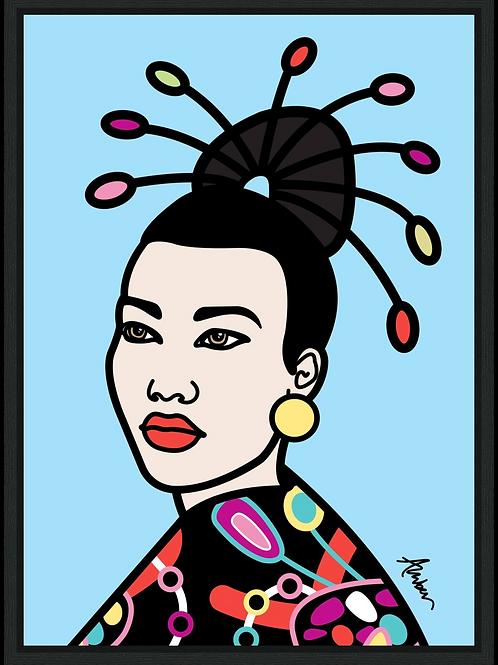 Geisha Blue Pop
