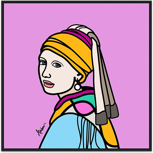 Girl With the Pearl Earring Lilac Pop