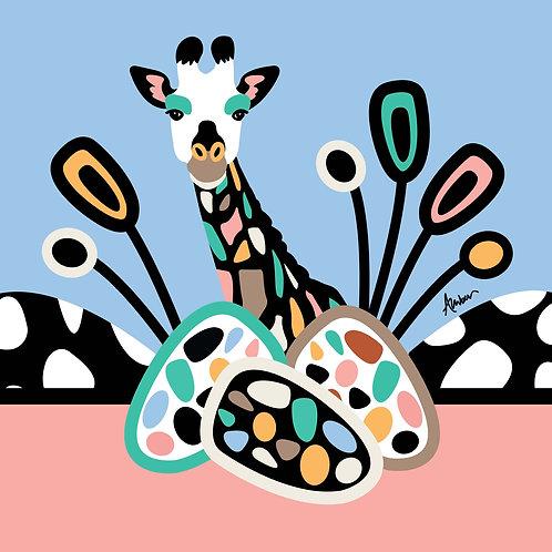 Jerry Giraffe Blue Pop