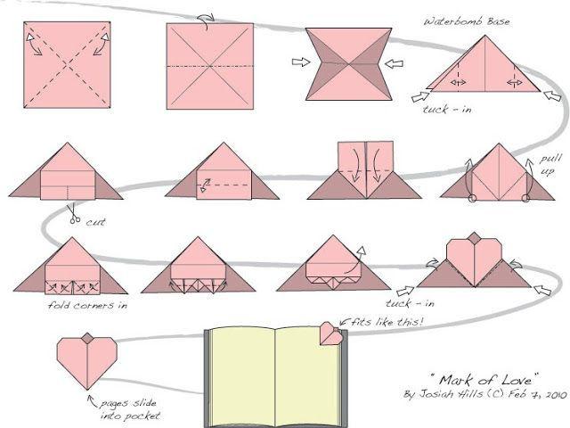 Origami Hearts   480x640