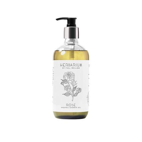 Rose organic shower gel