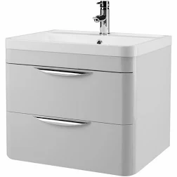 600mm Parade Grey Mist Wall Mounted Unit and Basin FPA402