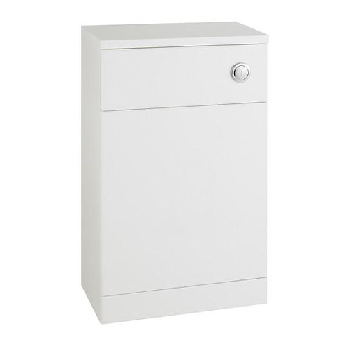 Encore 500mm White Gloss Tall WC Unit and Concealed Cistern
