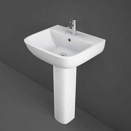 Rak series 600 520mm basin & pedestal