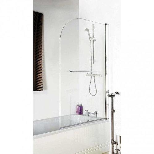 Carlisle Square Edge 6mm Bath Shower Screen With Towel Rail
